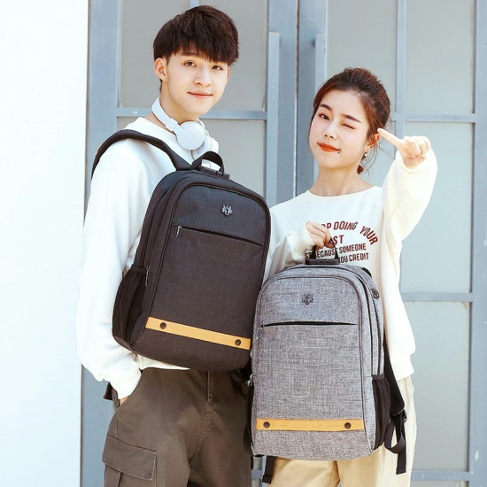Golden Wolf Trident Backpack - Grey
