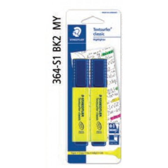 Textsurfer® Classic Highlighter in BK - Yellow and Yellow