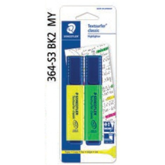 Textsurfer® Classic Highlighter in BK - Yellow and Green