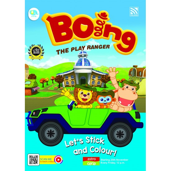 Boing The Play Ranger- Let's Stick And Colour!