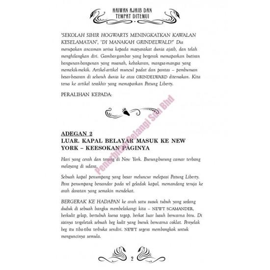 HARRY POTTER HAIWAN AJAIB DAN TEMPAT DITEMUI (BUKU SKRIP, Hard Cover)