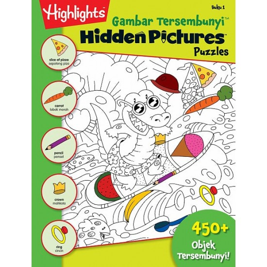 Highlights Hidden Pictures Puzzles (Eng/BM) - Hidden Pictures Puzzles 1 (BI-BM)