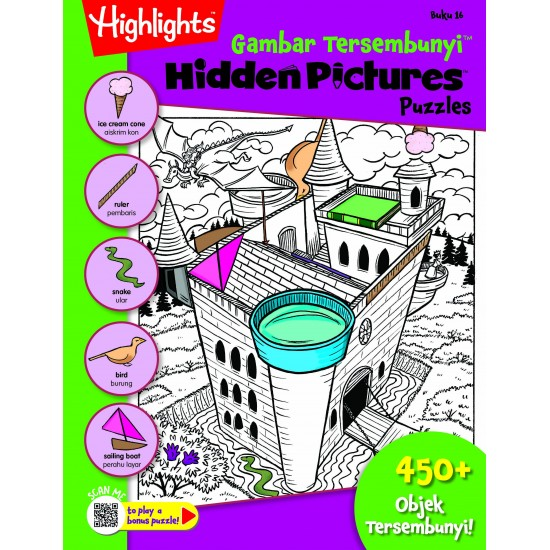 Highlights Hidden Pictures Puzzles (Eng/BM) - Hidden Pictures Puzzles 16(BI-BM)