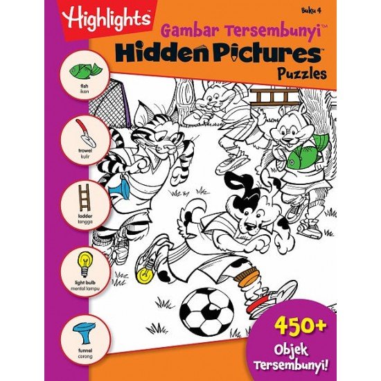 Highlights Hidden Pictures Puzzles (Eng/BM) - Hidden Pictures Puzzles 4 (BI-BM)