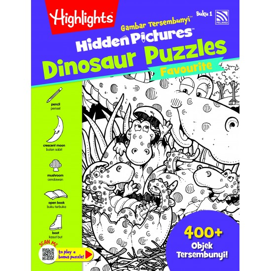 Highlights Hidden Pictures Dinosaur Puzzles (Eng/BM) - Hidden Pictures Dinosaur Puzzles Buku 1