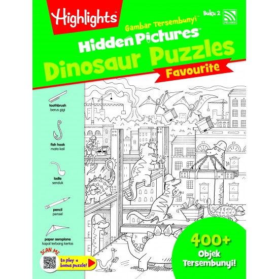 Highlights Hidden Pictures Dinosaur Puzzles (Eng/BM) - Hidden Pictures Dinosaur Puzzles Buku 2