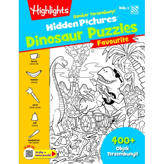 Highlights Hidden Pictures Dinosaur Puzzles (Eng/BM) - Hidden Pictures Dinosaur Puzzles Buku 3
