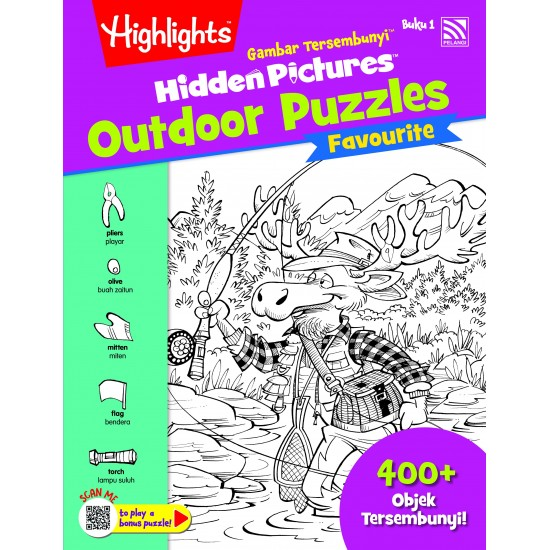 Highlights Hidden Pictures Outdoor Puzzles (Eng/BM) - Hidden Pictures Outdoor Puzzles Buku 1