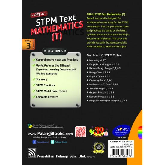 PRE-U STPM 2018 MATHEMATICS T PENGGAL 3