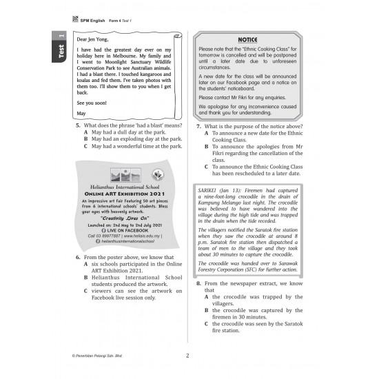 Get Ready SPM 2022 Form 4 English