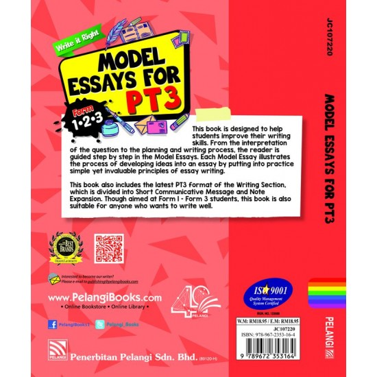 Write It Right! Model Essays for PT3