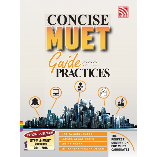 Success in MUET 2020 + Writing for MUET 2017 + Concise MUET Guide & Practices 2016 [Set]