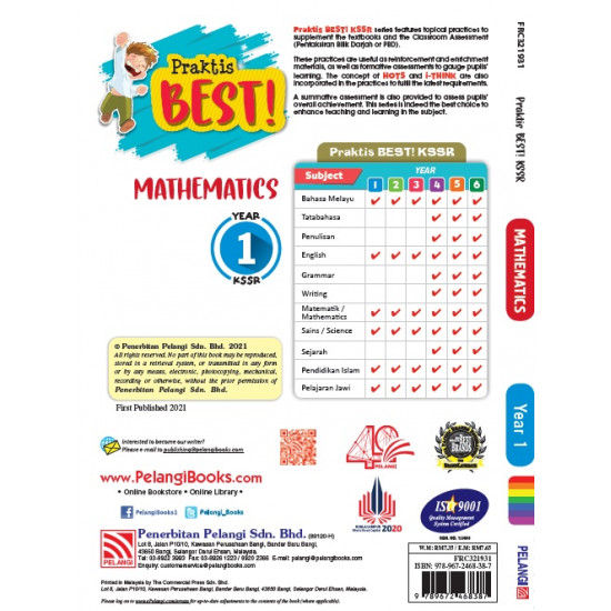 Praktis Best KSSR 2021 Year 1 Mathematics