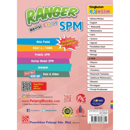 Ranger Revisi Cepat SPM 2022 Fizik
