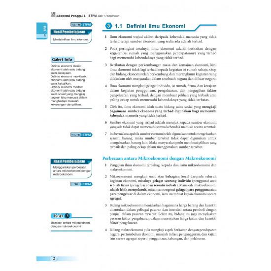Pra-U STPM 2022 Ekonomi Penggal 1