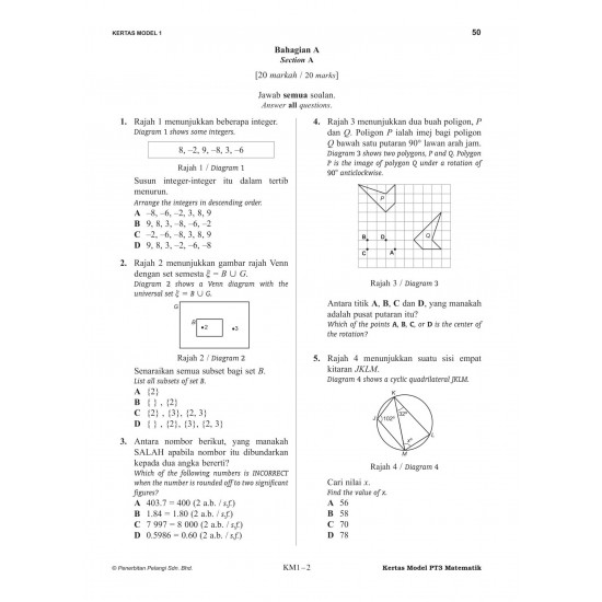 Skor A PT3 2021 Mathematics