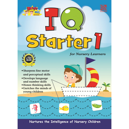 Bright Kids Books- IQ Starter 1 for Nursery Learners (New)