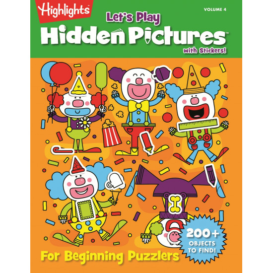 Highlight Let's Play Hidden Pictures with Stickers Vol. 4