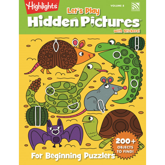 Highlight Let's Play Hidden Pictures with Stickers Vol. 8