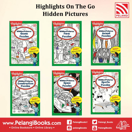 Highlights On The Go - Hidden Pictures (6 in 1 Set)