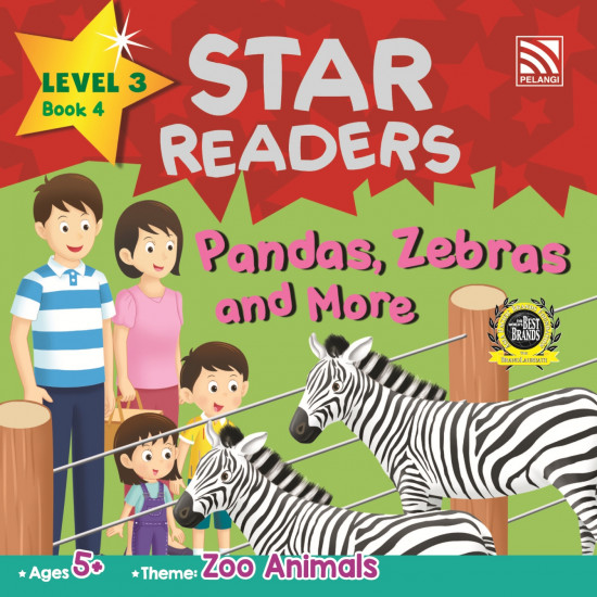 Star Readers Level 3: Pandas, Zebras and More