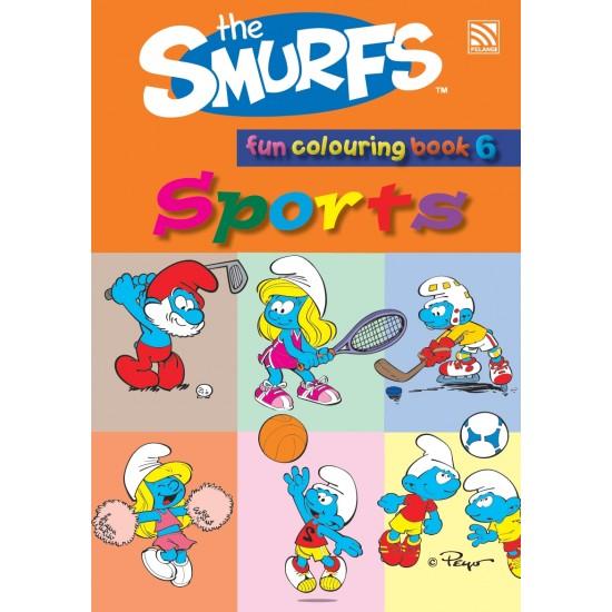 The Smurfs Fun Colouring Book 6: Sports