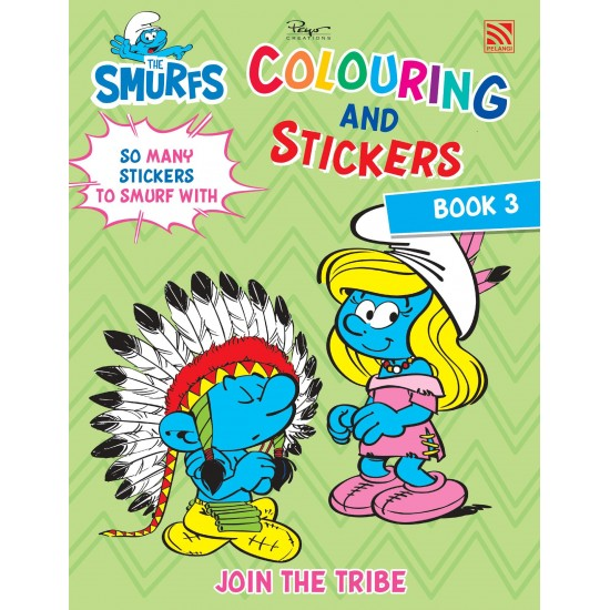 THE SMURFS - COLOURING AND STICKERS BOOK 3