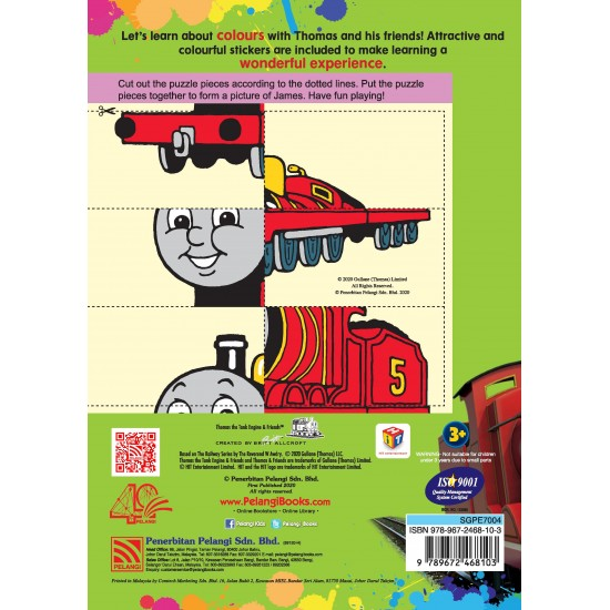 Thomas & Friends - Colours Activity Time with Stickers