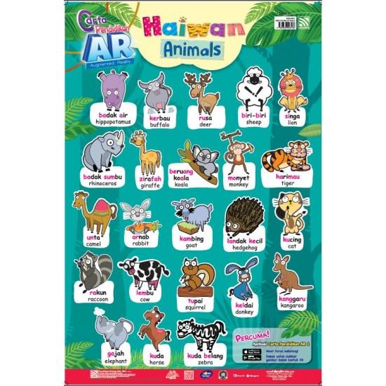 CARTA PENDIDIKAN AR (BM-BI) ANIMALS/HAIWAN DENGAN AR